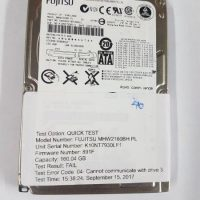 Fujitsu MHW2160BH 160Gb Laptop Hard Drive Tested and Working 40
